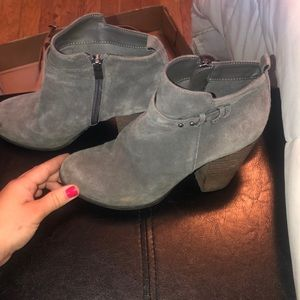 Gray Franco Fortine Lexi booties.